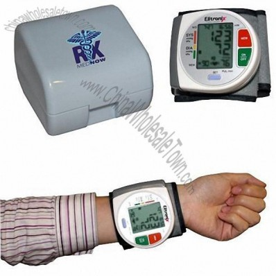 Wrist Blood Pressure Monitor - With Heart Health WHO Indicator & Case