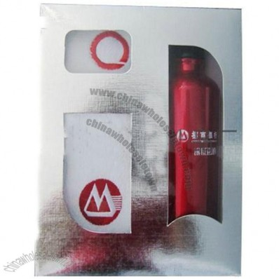 Wristband Watch, Square Towel, Water Bottle Sport Gift Set