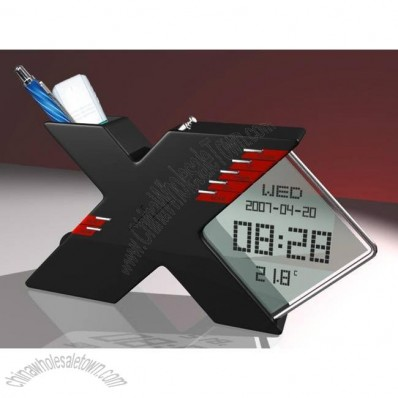 X Shaped Calendar Radio Pen Holder