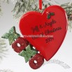 XOXO Christmas Heart Personalized Ornament