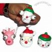 Xmas Design Squeezable with Eyes Pop Out Keychain Toy