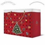 Xmas Gift Paper Bag with PP Handle