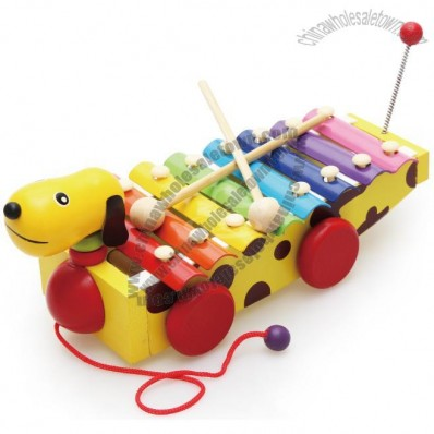 Xylophone Dog and Car Pull Along Toy Musical Instrument