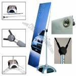 Y-Band Outdoor Banner Stand with Weighted Base