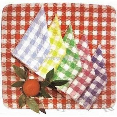 Yarn-dyed Checked Dish Cloth