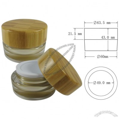 Yellow 15ml Bamboo Cosmetic Cream Jar