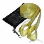 Yellow 20ft Reflective Tow Strap with Loops