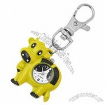 Yellow Fashion Jewelry Key Chain Ox Quartz Clock Watch