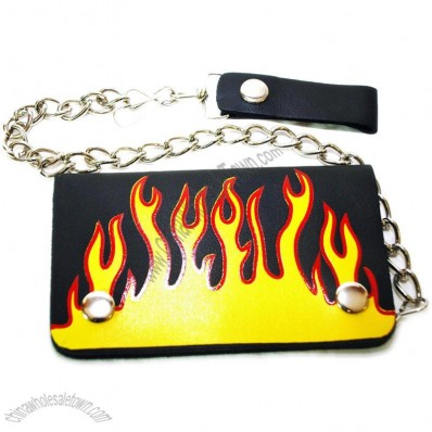 Yellow Flames Bi-fold chain wallet 6