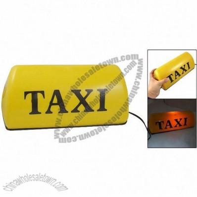 Yellow Light Magnetic Bottom Taxi Cab Top Sign Light 12V