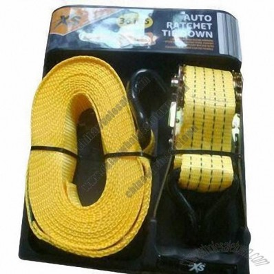 Yellow PMS 142C PES Strap Tie Down, 2000kg Breaking Force