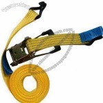 Yellow PMS 142c PES Tie Down Strap