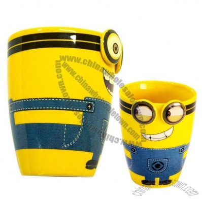 Yellow Person Ceramic Mug