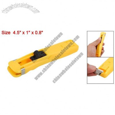 Yellow Plastic Handheld Medium Size Fast Clam Clip Stapler Dispenser
