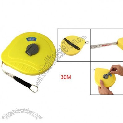Yellow Plastic Housing 30m Soft Pull Tape Measuring Tool