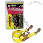 Yellow Polyester Ratchet Tie Down