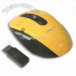 Yellow Wireless Optical Mouse