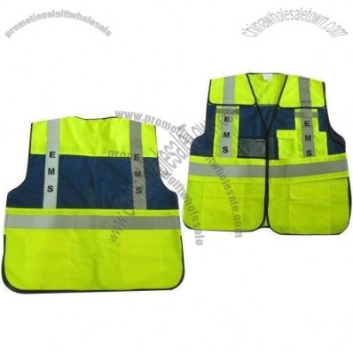 Yellow-blue Safety Vest with 2T Reflective