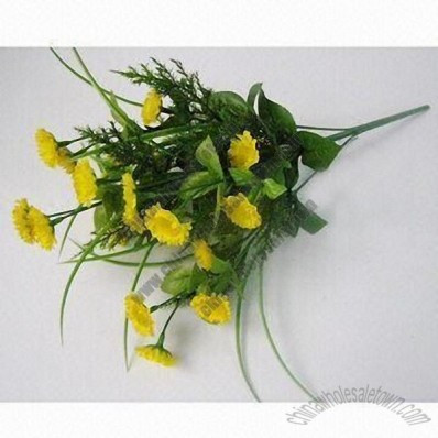 Yellow-colored Lifelike Novelties Bunches of Artificial Flowers