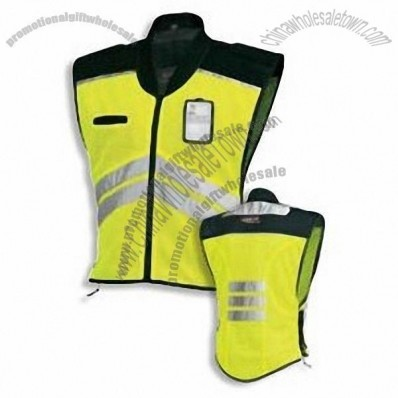 Yellow or Orange Reflective Safety Vest with ID Badge