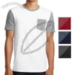 Young Men's Very Important Tee With Contrast Sleeves And Pocket