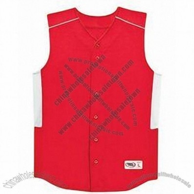 Youth Performance Sleeveless Button-front Jersey