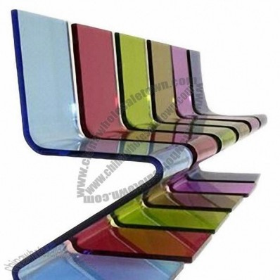 Z Shape Transparent Acrylic Chairs
