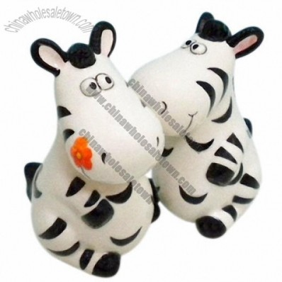 Zebra Salt and Pepper Shakers
