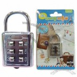 Zinc Alloy 6-digit Push Button Combination Lock