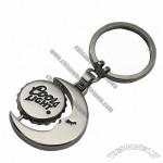 Zinc Alloy Beer Bottle Lid Shaped and Moon Keychain