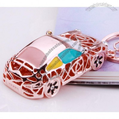 Zinc Alloy Car Key cahin with Gold-plated