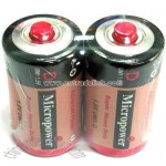 Zinc Carbon Battery D/R20 with Red Cap