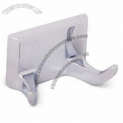 Zinc Metal Double Robe Hook