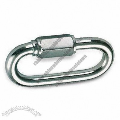 Zinc-plated Quick Link, Made of Carbon Steel