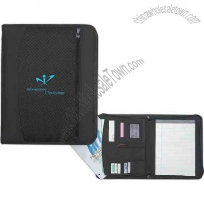 Zip-up Traveler Portfolio Made Of 840 Denier Nylon With Pvc Trim