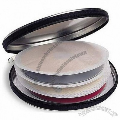 Zipped CD Tin Case / DVD Box Holder