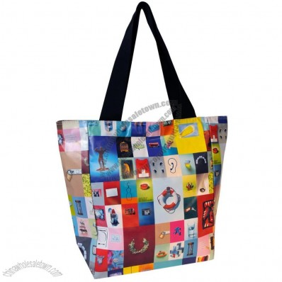 Zippered Shopper Bag with Full Color Printed