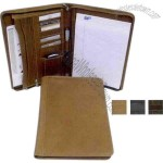 Zippered legal size notepad with legal-size notepad included