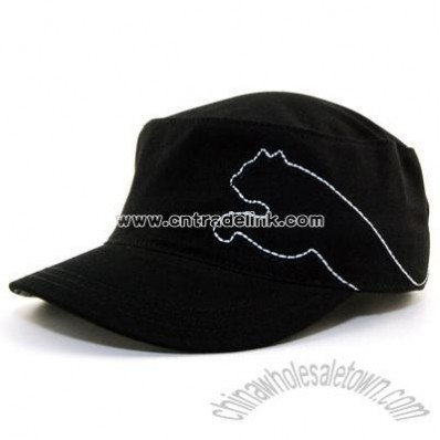 black Recess Military Cap
