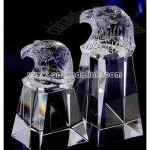 carved eagle head crystal award