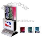 color changing LCD alarm clock