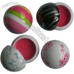 colorful water printed ball lip balm
