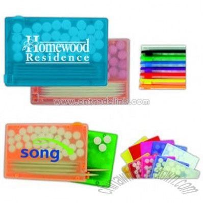 credit card mint and toothpick kit