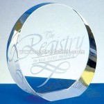 crystal beveled paperweight