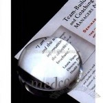 crystal dome magnifier paperweight