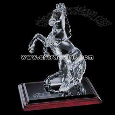 crystal horse statuette