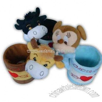 cup holder plush toy