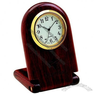 desk wooden clock