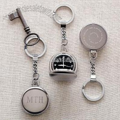 essex locket pocket watch + key chain
