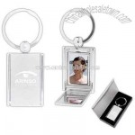 hidden photo keychain with magnetic closure and mirror